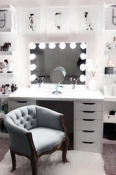 Large DIY Makeup Room Ideas, Organizer, Storage and Decoration ( Room Idea) - Makeup Room Ideas - - Dekoration Ideen - Beauty Room