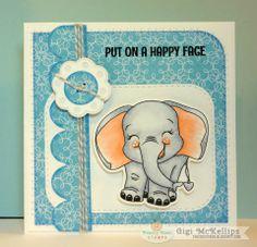 The Cricut Bug: Put On A Happy Face Elephant Card