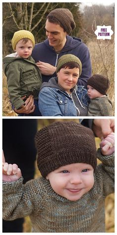Knit Barley Beanie Hat Free Knitting PatternAll Sizes