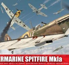 Airfix-172-Supermarine-Spitfire-Mk1a-Military-Aircraft-Series-1-Model-Kit-0