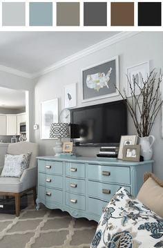 Living room color palette - black dark-azure dark-chartreuse-green dark-vermilion
