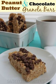 These homemade Peanut Butter Chocolate Granola Bars are delicious!!