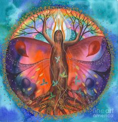 Mother Mary ~ Earth is Now Going into a New Era of Love and Light Mother Mary Monday, February 2018 Channel: Ann Dahlberg I am Mother Mary and I wa(. Mandala Art, Tree Of Life Art, Tree Art, Tree Of Life Images, Illustration Photo, Spirited Art, Goddess Art, Art Sculpture, Visionary Art