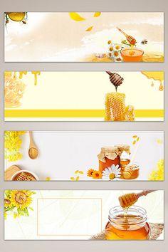 Food honey poster banner background#pikbest#backgrounds Jar Packaging, Honey Packaging, Miel Pops, Honey Logo, Bumble Bee Birthday, Bee Drawing, Honey Label, Honey Wedding Favors, Bee Illustration