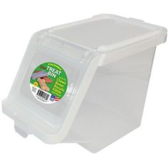 Buddeez 12-Cup Capacity Treat Containers, Clear/White ~ You can check out the image by visiting the link. (This is an affiliate link and I receive a commission for the sales)