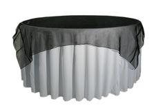 Black Organza Table Overlay or Cloth