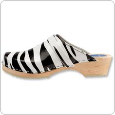 Zebra Print #Clogs. by Cape Clogs.  Great with white and black scrubs!