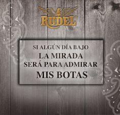 Si algún día bajas la mirada, que sea por algo que realmente vale la pena. #Rudel.