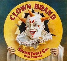 clown fruit crate labels (please follow minkshmink on pinterest)