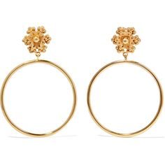 Dolce & Gabbana Gold-tone clip earrings featuring polyvore women's fashion jewelry earrings gold colored jewelry gold colored earrings clip back earrings gold tone earrings brass jewelry