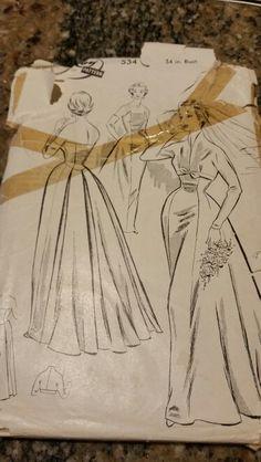 Vintage Leroy wedding dress pattern. Unused. #Sewing #vintage