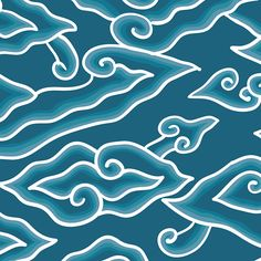 Megamendung Batik Pattern Megamendung Batik Pattern on Behance<br> Collage Design, Design Art, Mega Mendung, Paper Case, Batik Art, Batik Fashion, Batik Pattern, Clouds Pattern, Aesthetic Stickers