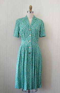 Vintage 50s Shirtwaist Day Dress