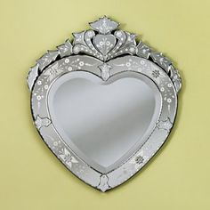 Venetian heart shape mirror