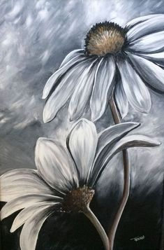 30 Creative Black And White Painting Ideas On Canvas Flower Painting Black And White Painting Ideas On Canvas Painting Ideas On Canvas Canvas Painting Ideas Easy Painting Ideas For Beginners Meaningful Painting Ideas Acrylic Painting For Beginners, Simple Acrylic Paintings, Beginner Painting, Easy Paintings, Flower Canvas Paintings, Portrait Paintings, Flowers On Canvas, Flowers To Paint, Simple Paintings For Beginners
