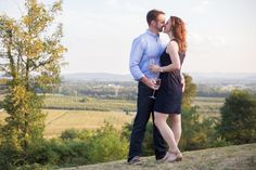 A gorgeous winery engagement session at Hauser Estate Winery in Biglerville, Pennsylvania by Maryland wedding photographer Christa Rae Photography