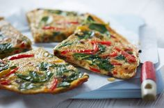 This Spanish-inspired frittata is made with fresh rocket, raisins and pine nuts| Tesco
