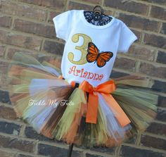 Monarch Butterfly Birthday Tutu Outfit...butterfly birthday outfit...www.ticklemytutu.com