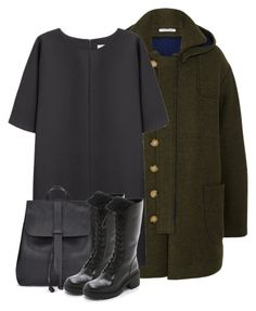 """""""Current/Elliott + Charlotte Gainsbourg wool duffle coat"""" by bodangela ❤ liked on Polyvore featuring Current/Elliott, Non and Marc by Marc Jacobs"""