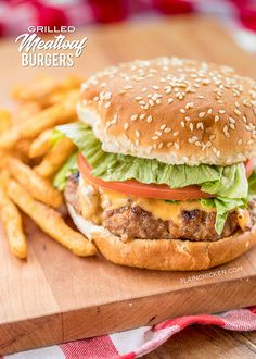 Grilled Meatloaf Burgers