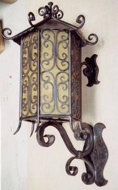 Mexican Iron Wall Sconces : Set 4 Arte De Mexico Electric Wall Sconces Wrought Iron Metal Green Paint 20