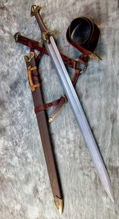Pattern Welded Viking Sword by Jeffery Robinson by Joel-Cevallos Fantasy Sword, Fantasy Armor, Fantasy Weapons, Knight Sword, Knight Armor, Ninja Weapons, Weapons Guns, Swords And Daggers, Knives And Swords