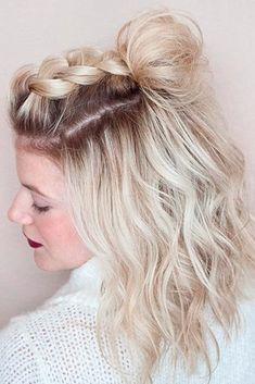Einfache und wunderschöne Frisuren für Frauen mit kurzem Haar 2018