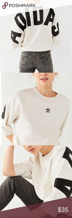 🆕 Adidas Originals 3/4 Sleeve Sweatshirt M 🔥😱 Brand New with Tags!   Adidas Originals Women's 3/4 Sweatshirt   Product Sku: 42957316  Make it modern in this 3/4-sleeve crew-neck sweatshirt from adidas Originals. Made from a super soft cotton-blend knit in a relaxed-fit construction. Topped with a wide banded crew-neck + dropped 3/4-length sleeves. Finished with a kangaroo pocket at the front + graphics down the sleeves and at the chest.  Content + Care - Cotton, polyester - Machine wash…