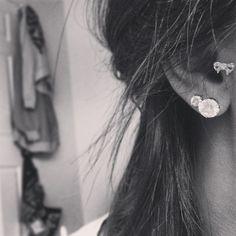 #piercing #ears #doubles #tragus #earrings #bow