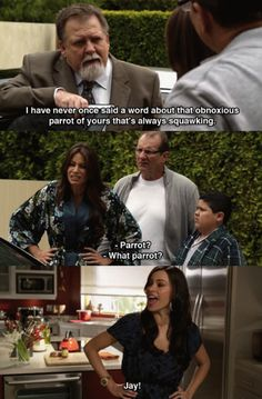 One of my favourite Gloria moments.  I suspect this is what people say about me to my hub.