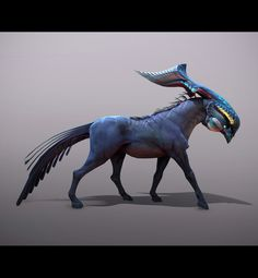 ArtStation - Dragon horse creature with baby 01, Tyler Smith