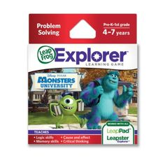 Amazon.com: LeapFrog Explorer Disney Pixar Monsters University Learning Game: Toys & Games