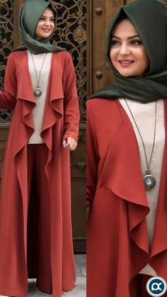 hijab dress Texas Color Topcoat - NisaLife - Buy Fashion Muslim Women Clothing, Hijab, D Hijab Style Dress, Casual Hijab Outfit, Abaya Mode, Mode Hijab, Abaya Fashion, Muslim Fashion, Dress Fashion, Modest Dresses, Modest Outfits