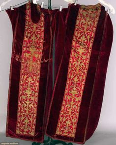 Chasuble W/ Orphrey, Italy, C. 1575, Augusta Auctions, April 17, 2013 - NYC, Lot 317