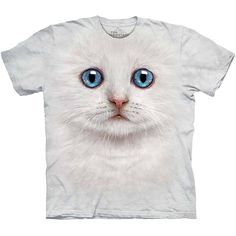 The Mountain IVORY KITTEN FACE T-Shirt S-3XL White Cat Blue Eyes Tee NEW! #whitekitten #whitecat