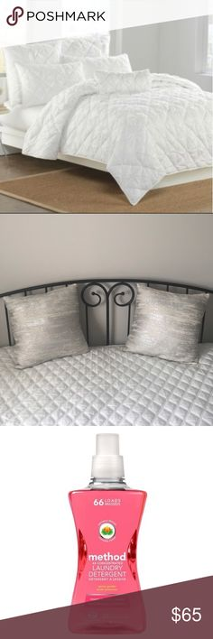DKNY White Diamond-Detailed Quilt! Beautiful soft, cozy, light-weight quilt. 100% cotton cover. Quilt was used for guest's bedroom daybed. Daybed was never used. No rips, stains. Method natural products used for cleaning care. *Pet/Smoke free home. Dkny Accessories