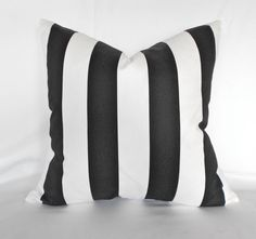 Pillow+Cover+Black+White+Stripe+Outdoor++Any+by+MyPillowStudio,+$20.00