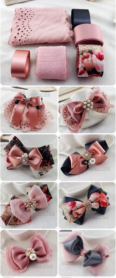 Discover thousands of images about Bows Ribbon Hair Bows, Diy Hair Bows, Diy Ribbon, Ribbon Crafts, Ribbon Headbands, Fabric Bows, Fabric Flowers, Bow Making Tutorials, Barrettes