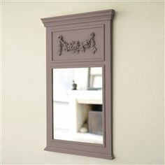 Miroir ancien de style louis xvi doree en bois et stuc n for Miroir trumeau blanc