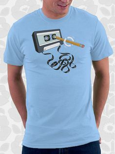 Back in the Day Retro T-Shirt - 100% Cotton. Mens, womens and kids sizes. A geeky retro 80s tee that comes in black, royal and baby.