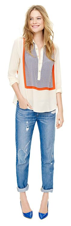 J Crew 2012:) the boyfriend Jean works with this outfit!