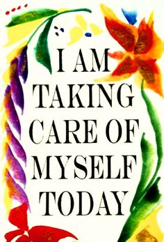 Today is the first day of the rest of your life. It's always a great time to start your SELF CARE programme - putting yourself first really WORKS!