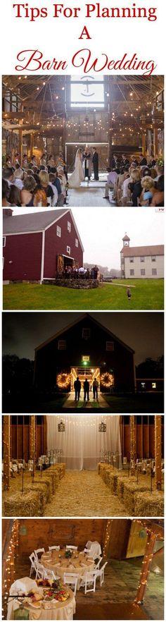 Waarom niet trouwen in een (oude) stal? Met feestelijke verlichting is dit een prachtige plek! www.bruidsboutiquemarianna.nl