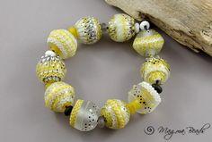 Magma Beads Luna Lace Handmade Lampwork Beads | eBay