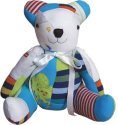 This bear is made out of old baby onesies.  What a great idea!