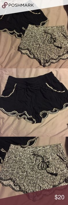 Two Pair of Shorts Two different pair of Aeropostale shorts. Super cute with lots of outfits for the summer. Loose and flowy shorts. XS for both pair. Shorts Bermudas