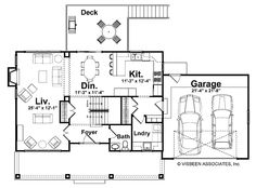 Floor Plans AFLFPW17247 - like the main floor plan with orientation of kitchen