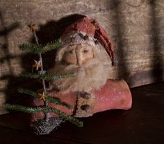 Now Available on our Daily Dose Web Page!  www.earlycountrya... christma thyme, countri antiqu, prim santa, primit santa, countri christma, primitive santas, primit christma, antiques, prim christma