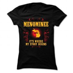 Menominee - Its where story begin - #checked shirt #sweater for women. TAKE IT => https://www.sunfrog.com/Names/Menominee--Its-where-story-begin-Black-Ladies.html?68278