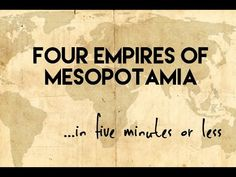 This is a brief overview of four significant empires in ancient Mesopotamia. This five minute video will explore the Akkadian, Babylonian, Assyrian and Neo-B. World History Teaching, Ancient World History, World History Lessons, History Teachers, History Classroom, Women's History, History Museum, History Facts, Mesopotamia Lesson